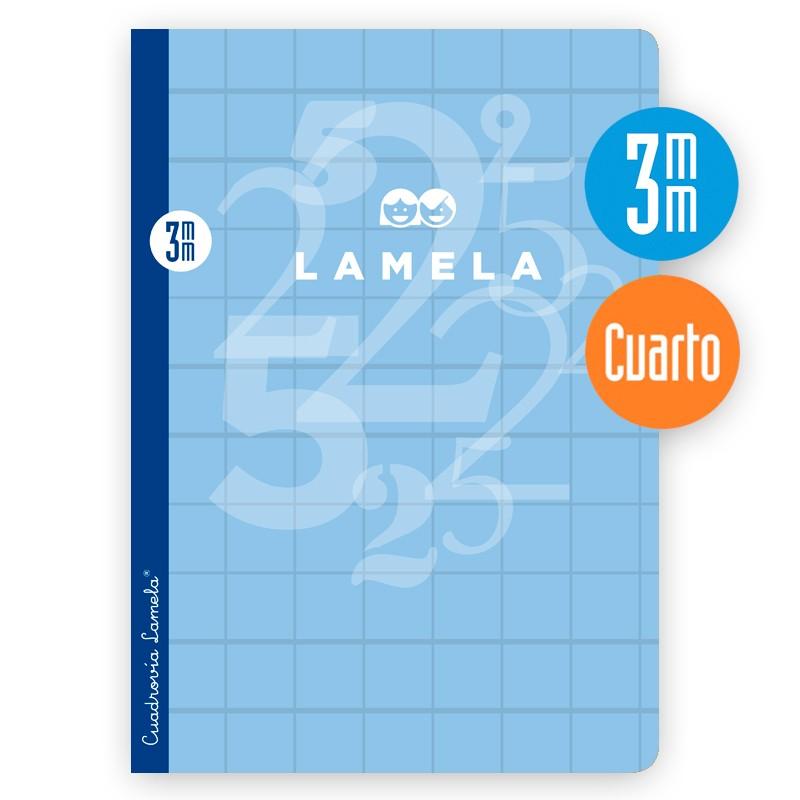 Libreta Grapa Cuarto 50 Hojas. Cubierta Cartoncillo Plastificado.SURTIDO.Cuadrovía 3mm.